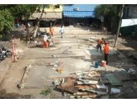 Sau chỉ đạo của Bí thư Đinh La Thăng, khu đất nhếch nhác sắp thành công viên rợp bóng xanh