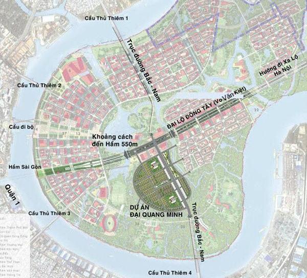 vi tri du an dai quang minh Vị trí dự án Đại Quang Minh